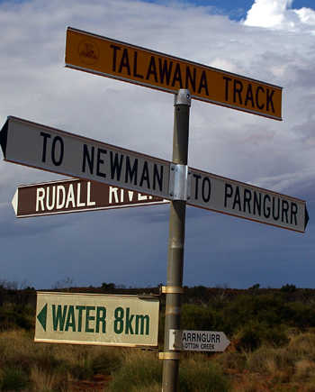 parrngurr road sign