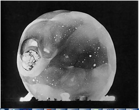 three milliseconds after an atomic explosion, 1952