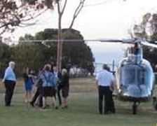 THAT helicopter disgorging B. Bishop at a Golf Course in Geelong.
