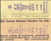 Tickets printed by the Setright Ticketing Machine