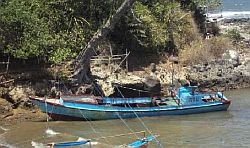 Torn apart ... Fishing boats at Cidaun, south Java, after the rescue. Picture: Supplied (Perth Now)