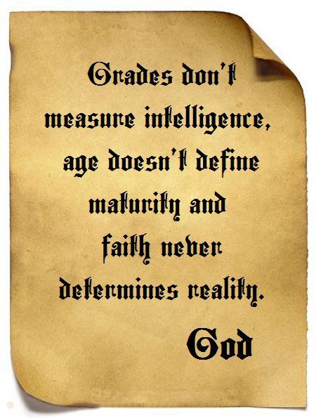 God and Grades